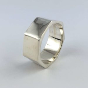 anello-uomo-donna-fascione-argento-925-esagono-online