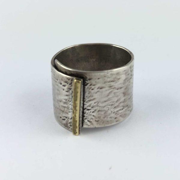 anello-uomo-donna-fascione-argento-925-graffiato-ottone-online