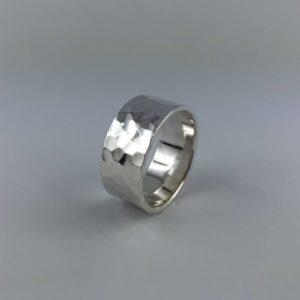 anello-uomo-donna-fascione-argento-925-martellato-online