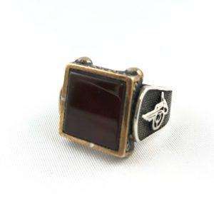 anello-uomo-turcomanno-argento-925-corniola-scura-online