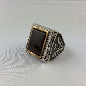anello-uomo-turcomanno-corniola-nero-argento-925-online