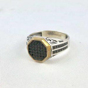 anello-uomo-turcomanno-cristalli-neri-argento-925-online