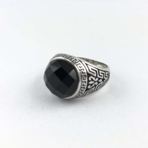 anello-uomo-turcomanno-onice-nero-ovale-sfaccettato-argento-925-online