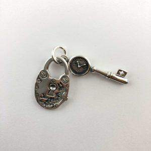 ciondolo-argento-925-chiave-lucchetto-dali