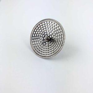 anello-artigianale-india-argento-925-fiore-cerchi-concentrici-online
