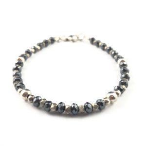 bracciale-uomo-argento-925-ematite-sfaccettata-pepite-grandi-online