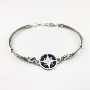 bracciale-uomo-yacht-argento-925-cavo-acciaio-rosa-venti-online
