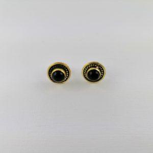 Coppia-orecchini-ottone-pietra-onice-nera