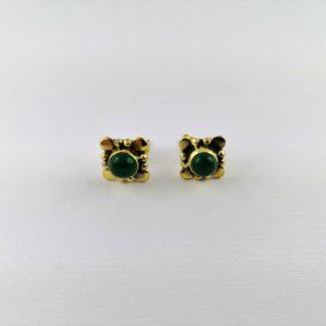 Coppia-orecchini-ottone-pietra-onice-verde
