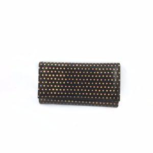 Portafoglio-cuoio-porta-carte-credito-porta-monete-disegno-nero-puntini-arancioni