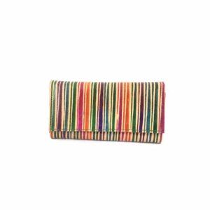 Portafoglio-cuoio-porta-carte-credito-porta-monete-disegno-righe-colorate