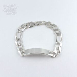 Bracciale-argento-925-maglia-italiana-targhetta-rettangolare-gancio-moschettone