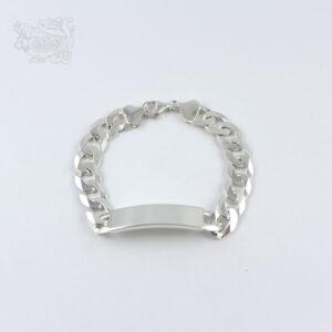 Bracciale-argento-925-targhetta--rettangolare-maglia-piccola-italiana