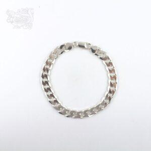 Bracciale-uomo-argento-925-maglia-italiana-chiusura-moschettone