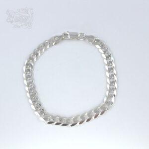 Bracciale-uomo-argento-925-maglia-italiana-regolabile-chiusura-moschettone