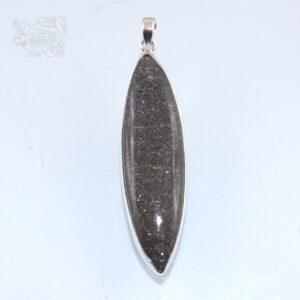 Ciondolo-pietra-ossidiana-dorata-montata-argento-925-forma-ogiva