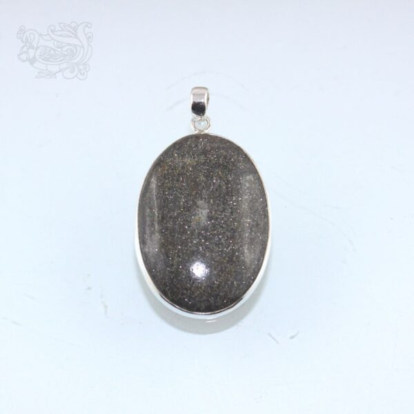 Ciondolo-pietra-ossidiana-dorata-montata-argento-925-forma-ovale