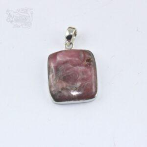 Ciondolo-pietra-rodocrosite-montata-argento-925-forma-rettangolare
